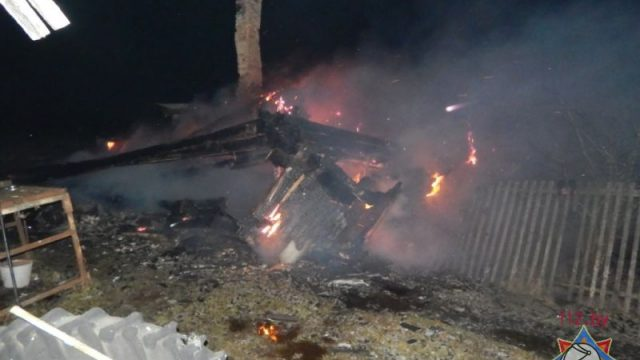 пожар в Ушачском районе