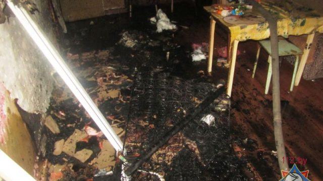 При пожаре в Сморгони погибла престарелая женщина