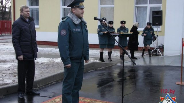 открытие пожарной части в Могилеве