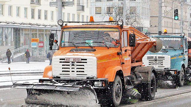 Расчистка улиц в Минске