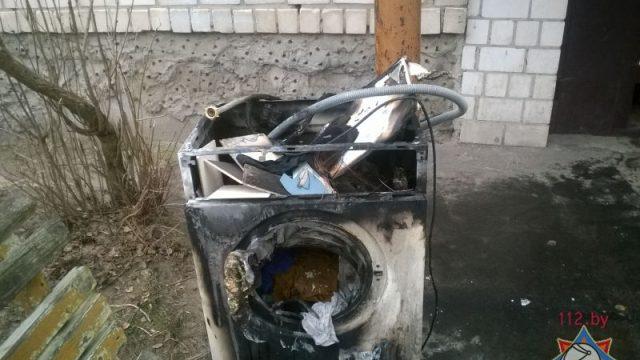 Пожар в Добруше - загорелась стиральная машина