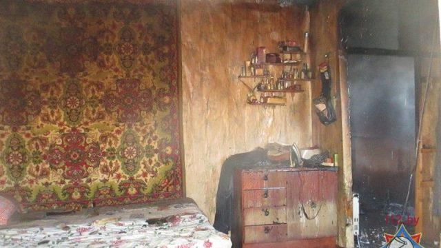 При пожаре в Могилеве престарелая женщина отравилась угарным газом