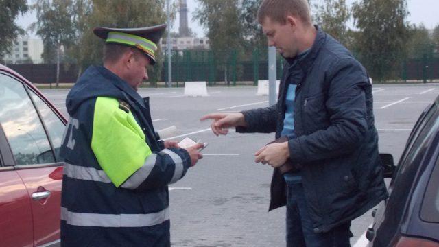проверка документов инспектором ГАИ