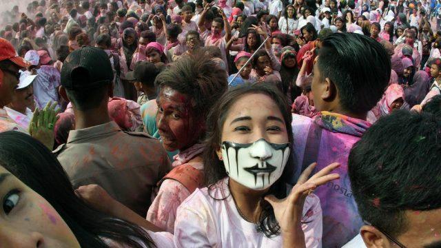 фестиваль цветов в Индонезии