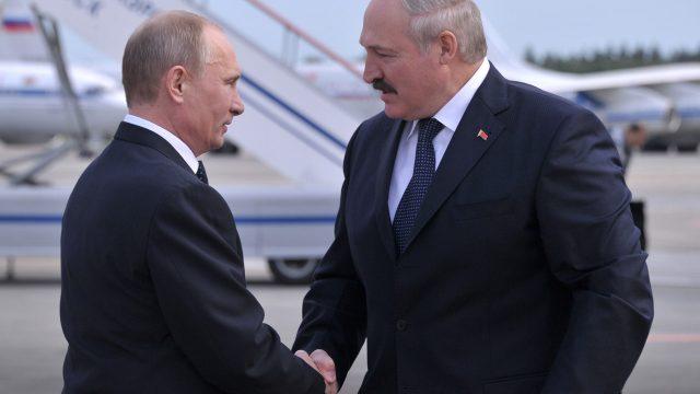 Встреча Путина и Лукашенко