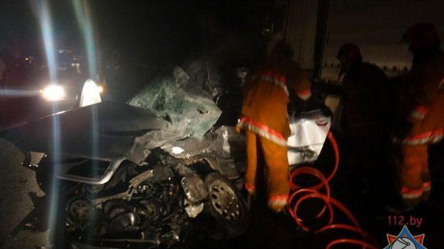 В Витебске автомобиль «Audi A6» врезался грузовой автомобиль: 1 человек погиб