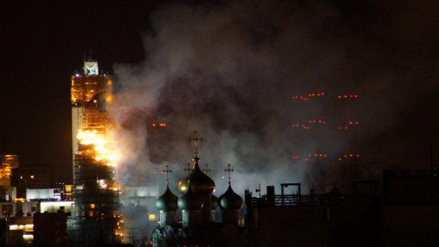горит Новодевичий монастырь