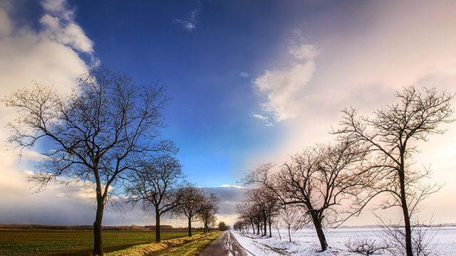 весна против зимы