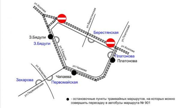 схема движени трамваев