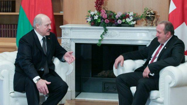 встреча Лукашенко и Маргелашвили