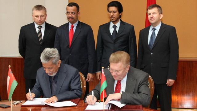 Беларусь и Оман подписали протокол о сотрудничестве