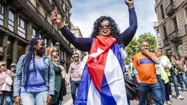 демонстрация рабочих в Барселоне