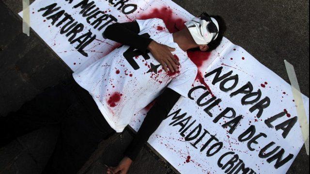 демонстрант в Гватемале