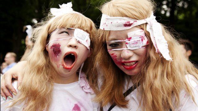 прогулка зомби в Японии