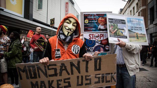 протест против Монсанто