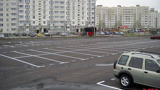 парковка в Каменной Горке