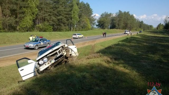 Авария в Каменецком районе - автомобиль столкнулся с мотоциклом