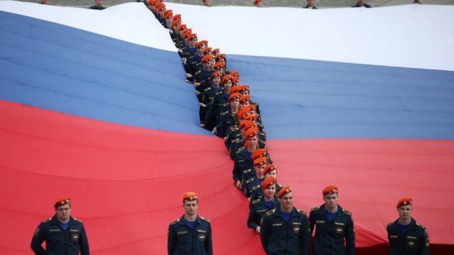 крупнейший в мире российский флаг