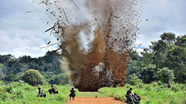 взрыв взлётной полосы