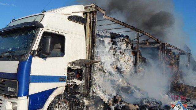 загорелся грузовик