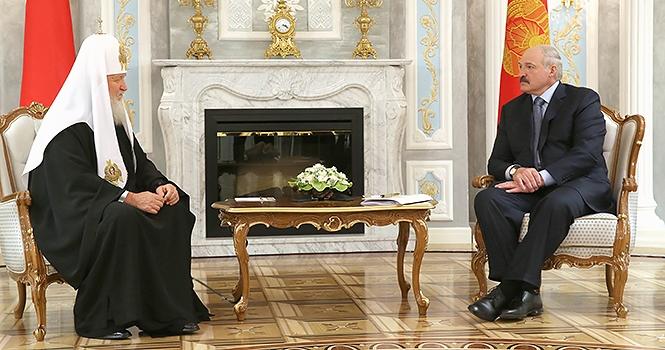 патриарх Кирилл и Лукашенко