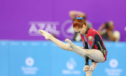Белорусские акробатки взяли бронзу на Европейских играх в Баку