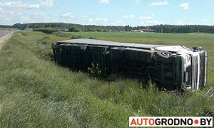 В Вороновском районе опрокинулась фура  с 20 тоннами масла