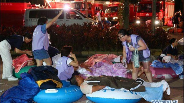 В результате взрыва в аквапарке на Тайване пострадали сотни человек