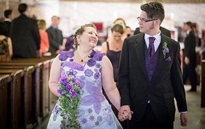 Девушка вязала свое свадебное платье 1000 часов
