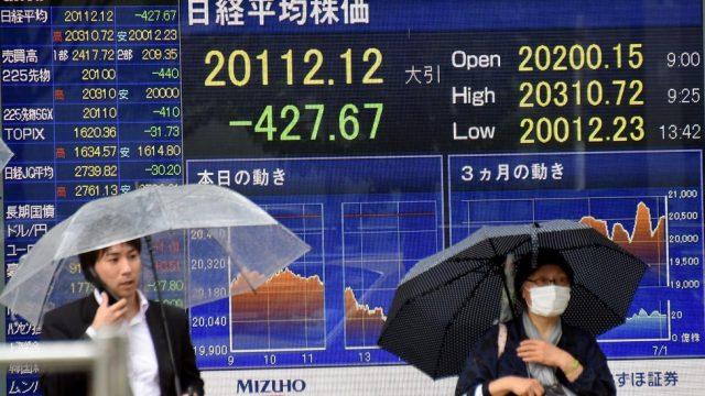 падение акций в Японии