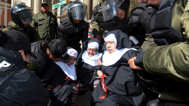 задержание участников протеста
