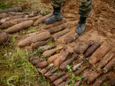 64 минометные мины и 4 гранаты времен ВОВ обнаружили в Полоцком районе