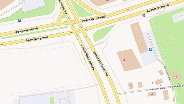 В Минске на развязке улиц Маяковского и Аранская планируют построить дополнительную полосу