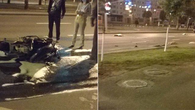 В Витебске мотоциклист насмерть сбил двух пешеходов и погиб сам