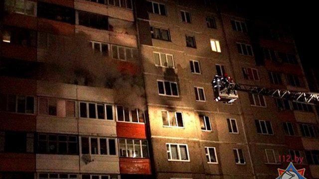 Мать с ребёнком серьёзно пострадали в результате пожара в Минске