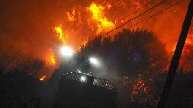 лесной пожар в Галиции