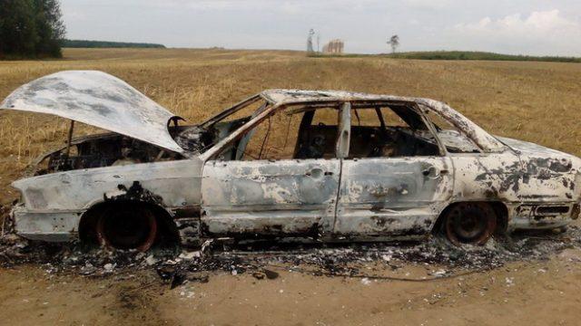 угон и сожжение автомобиля