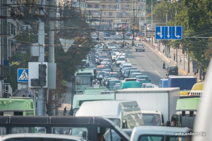Пробки в Минске