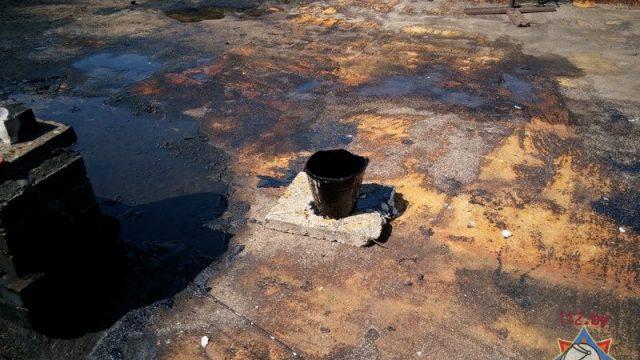 В Жабинке при ремонте кровли возник пожар - спасатели эвакуировали 72 человека