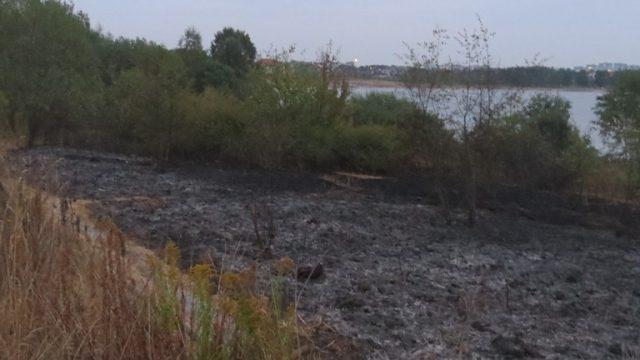 Пожар на водохранилище