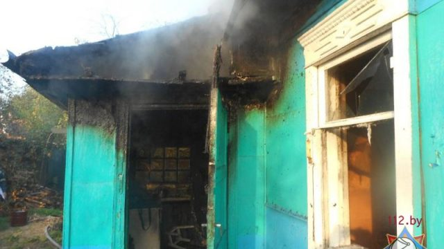 В Бобруйске в своём доме сгорел пенсионер