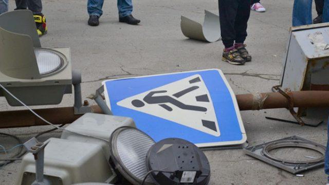 В Минске девушка под воздействием наркотиков врезалась в светофор