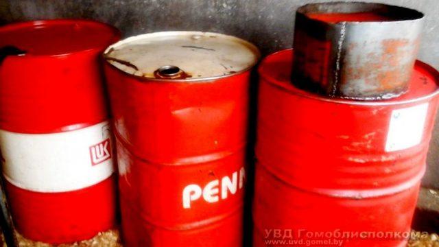 Гомельчанин продавал топливо в собственном гараже