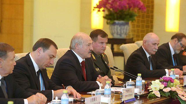 Лукашенко в Китае