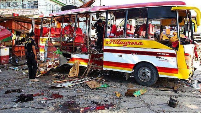взрыв в автобусе