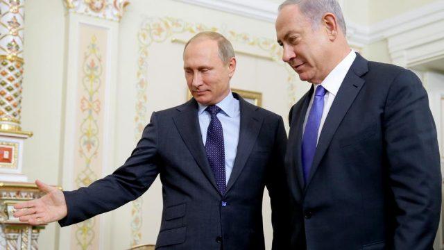 Владимир Путини премьер-министр Израиля Биньямин Нетаньяху