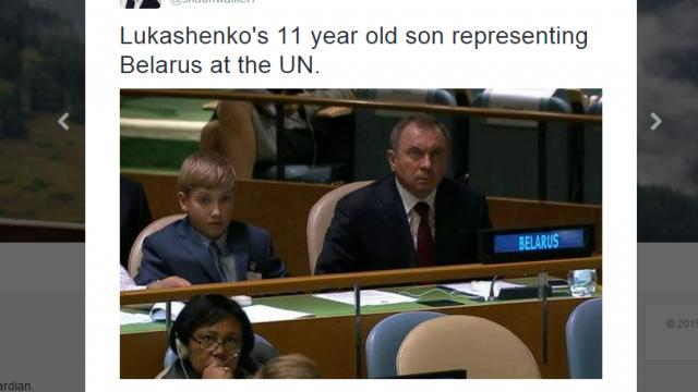 Сын Лукашенко в ООН