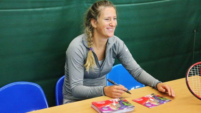 Виктория Азаренко провела в Минске мастер-класс для воспитанников теннисных школ