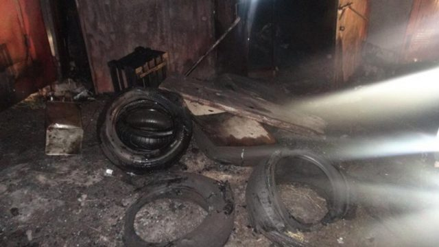 поджог гаражей