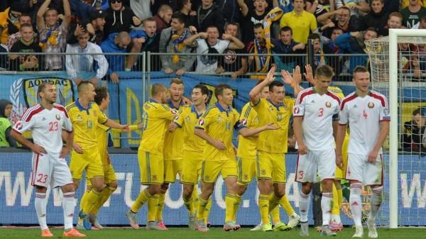 Сборные Беларуси и Украины